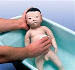 Male Baby-Care-Model with Japanese Facial Features