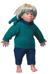 Tim - Caucasian Down's Syndrome Doll (Trisomy 21), male