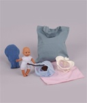 Mini Model Set: Pocket Uterus,Baby, and Pelvis (6 Pieces)